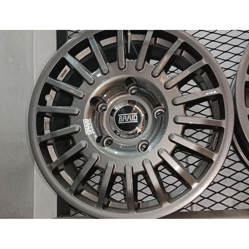 """BRAID Toyota w/cover 17"""" Gray old"""