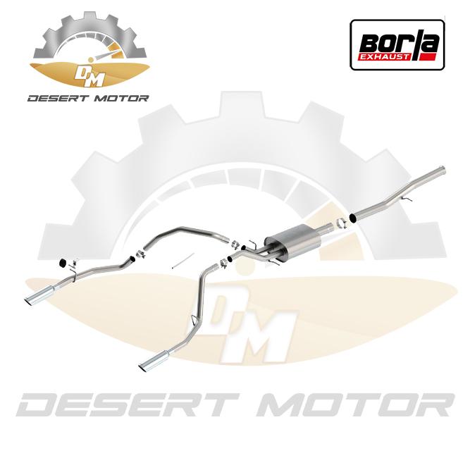 Catback Borla S-Type 5.3 4 door Sierra 19+ OEM tips