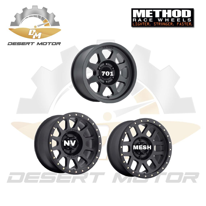 METHOD NV GMC black 17x8.5, 6x139.7