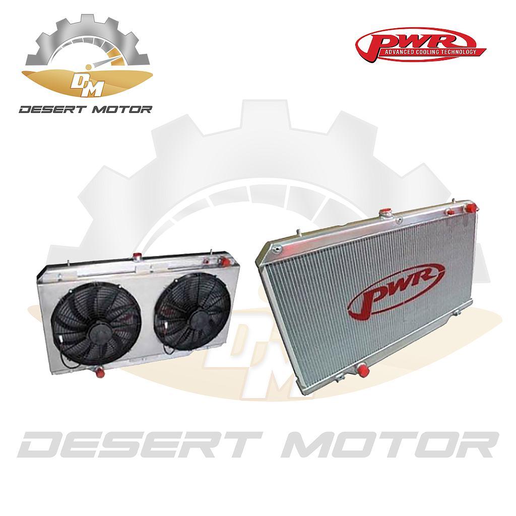 PWR Radiator Old nissan LS engine w/ fan