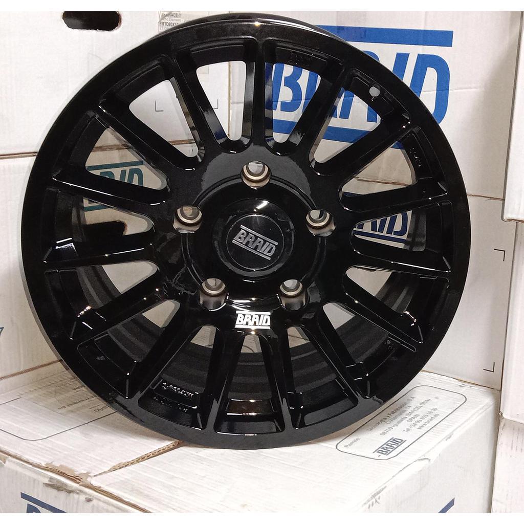"BRAID Toyota  17"" Black New"
