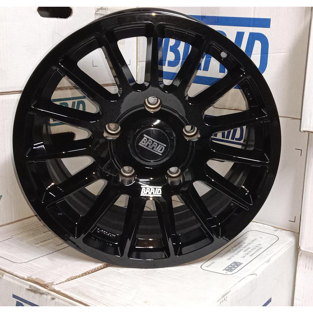 "BRAID Toyota  17"" Black New"