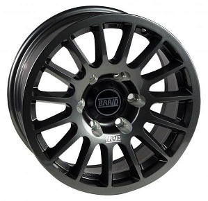 """BRAID Nissan Y62 17"""" Gray"""