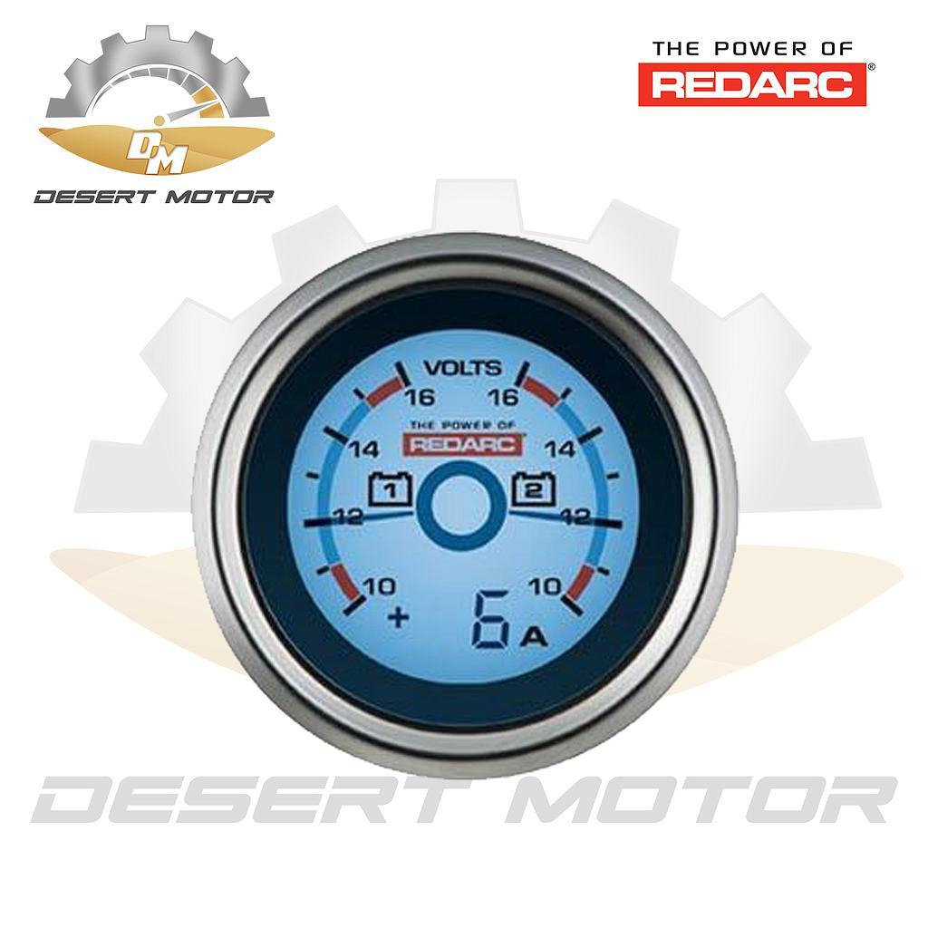 Redarc dual battery system volt gauge