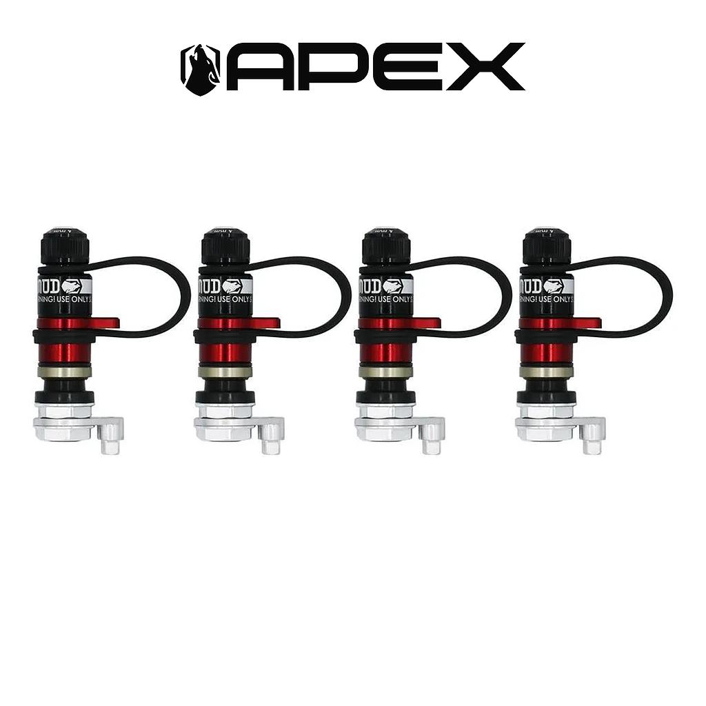 Apex XL Rapid Precision tire valve set of 4