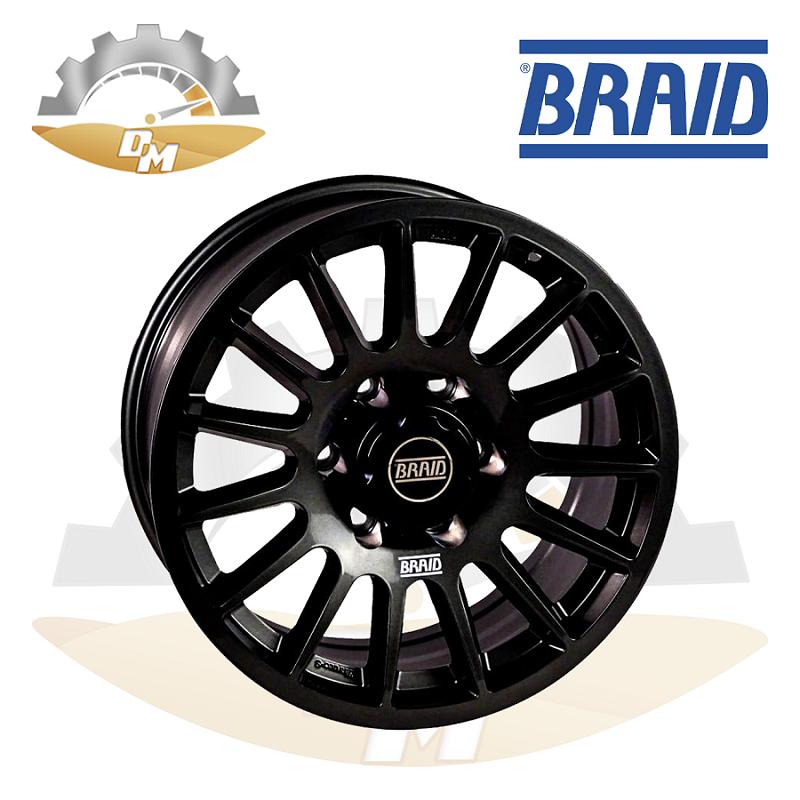 """BRAID Nissan Y62 17"""" Black"""