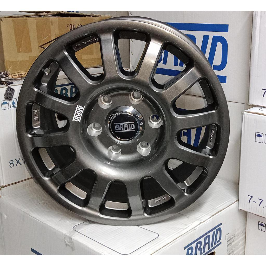 """BRAID DAKKAR Toyota LC300  17"""" Gray New(4 pieces)"""