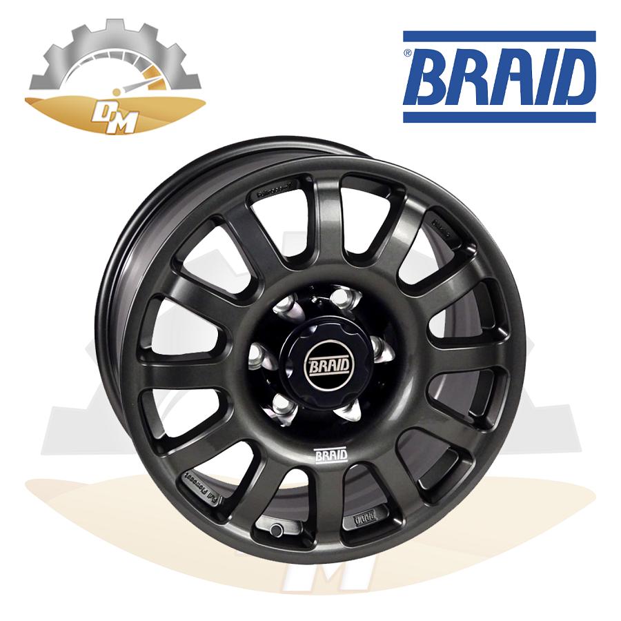 """BRAID DAKKAR Toyota LC300  17"""" Gray New(piece)"""