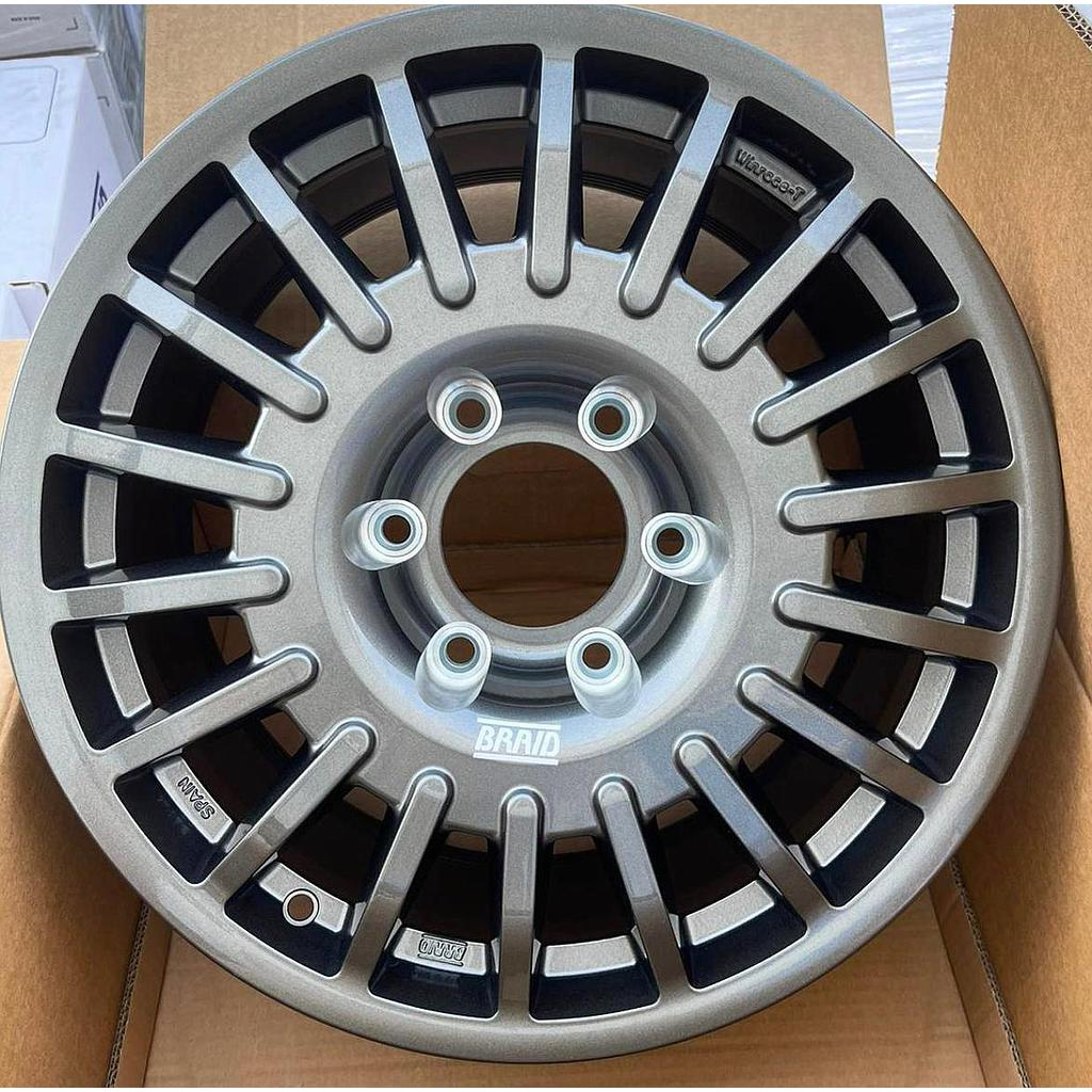"""BRAID Toyota LC300 without/cover 17"""" offset 24 Gray old (4 pieces)"""