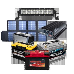 electronics, lighting and dual battery